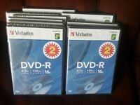 20 - 2pks. DVD -R discs for video recorder players
