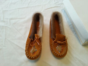 Leather Beaded Native American Indian Child Moccasins slippers
