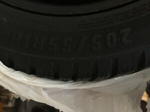 LIKE NEW 205/55r16 WINTER TIRES AND RIMS FOR SALE!!