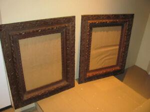 Antique picture frames.