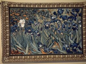 "53""x38"" Van Gogh Irises Floral Tapestry Wall Hanging"