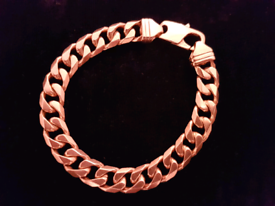 68868f6c9 Solid 9ct gold curb bracelet 48.2 grams 8.5 inch