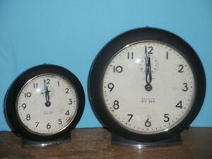 Matched pair of Westclox alarm clocks