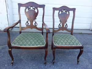 Antique Parlor Chairs Set of 2