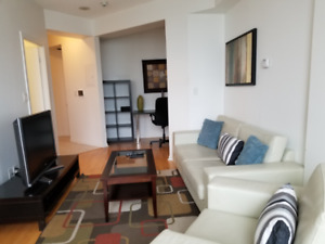 August: Furnished downtown Suite next to Union subway station
