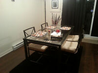 Dinning table and 4 chairs IKEA