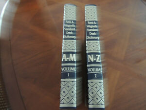 Funk and Wagnalls Standard Desk Dictionary - 2 volume hardcovers