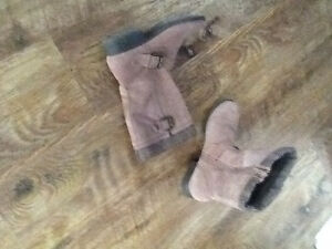 Suede fashion boots