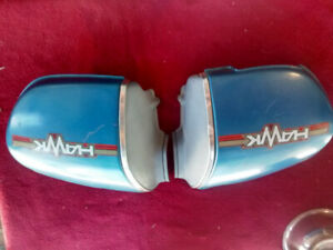 Used Honda CB400 Hawk Side Cover Set # 83700-413-0000