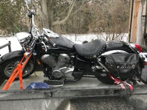 Moto Honda Black shadow 750