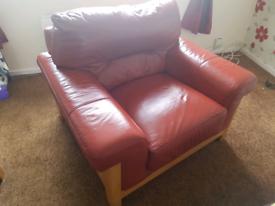 Dfs 3 piece leather suite.