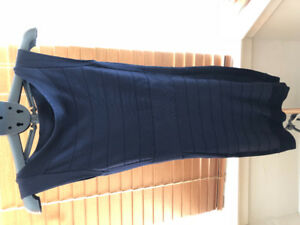 French Connection Navy Blue Bandage Dress