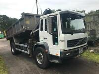 Volvo FL 220 Tipper With Crain