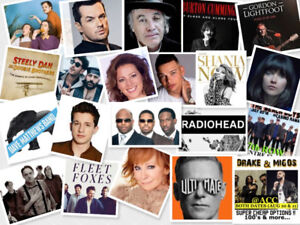 Upcoming popular Concerts in Toronto♦guaranteed tickets w/rcpt♦