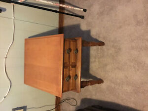 Wooden table $30.00 AS IS