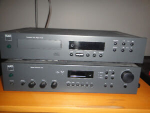 NAD 512 cd player and 712 stereo receiver