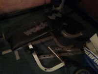 Wright Bench in pieces