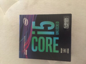 brand new sealed cpu intel core i5-8600k LGA1151 Unlocked