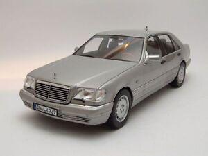 Mercedes S class S600 1997 (W140) silver, Model car 1:18 / Norev