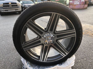 Brand New Set of 22 Inch Rims and Tires