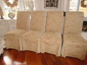Four Upholstered Dinning Room Chairs