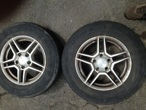 2 alloy wheels with summer tires