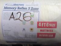 New 5 zone memory foam mattress.
