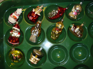 Antique Character, Glass Christmas Ornaments