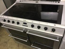 Fusion Matt aluminium large range cooker