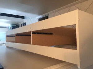 Twin Bed with Shelving/Drawers/Mattress   SOLD