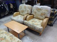 Sofa & Two Armchairs in Yellow