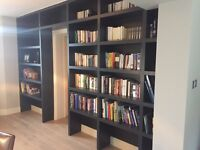 Fitted wardrobes, bookcases, shelving, alcove units, slopping units in SW London and Surrey