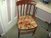ANTIQUE SEWING TABLE CHAIR