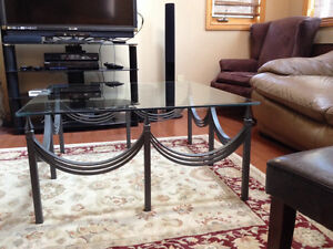 Wrought Iron Coffee Table with Glass Top Belleville Belleville Area image 2