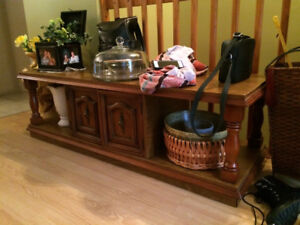 Table basse en bois vintage