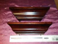 2 Très belles tablette en bois décorative