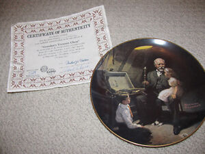 Norman Rockwell Collector Plate Set - Light Campaign Series