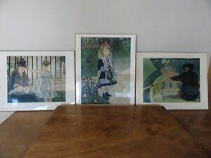 3 Reproductions de peintres connus, à vendre.