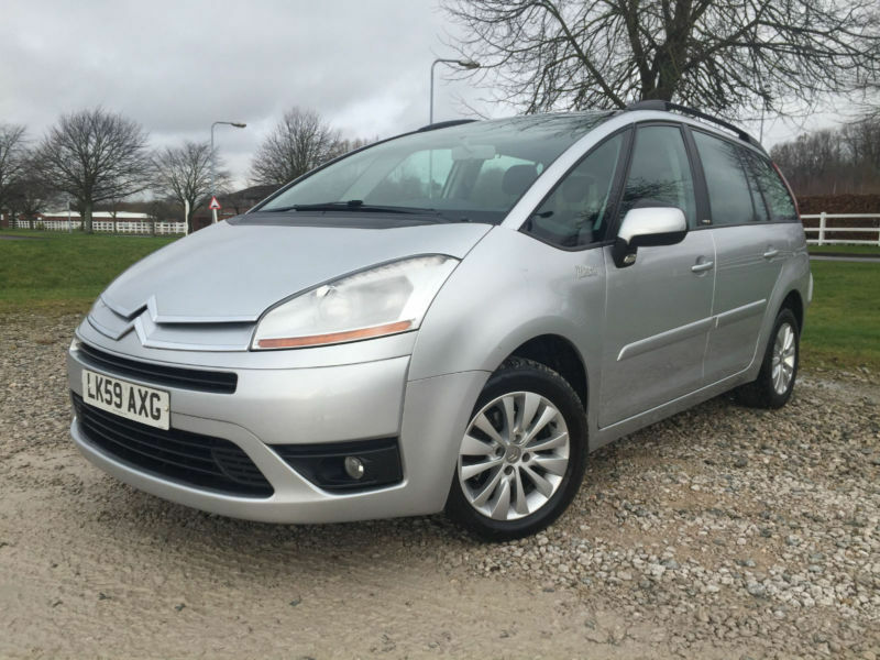 2009 citroen grand c4 picasso 1 6hdi 16v vtr 7 seater manual diesel in silver in. Black Bedroom Furniture Sets. Home Design Ideas