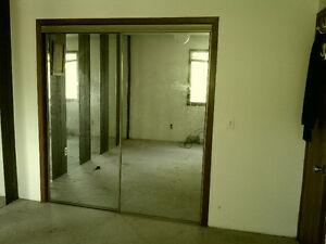 For Sale MIRRORED SLIDING CLOSET DOORS