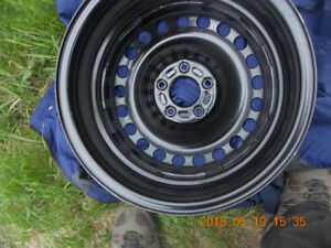4-NEW 16 INCH FORD BLACK RIMS  5X108 BOLT PATTERN