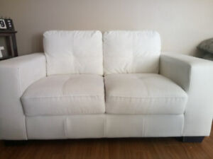 White sofa and love seat for sale