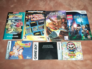 for sale 29  video games manuals all random 1.50 cents  each .