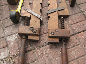 antique wood tools, plane, clamps and stanley level Windsor Region Ontario image 2