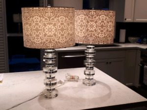 Pair of high quality designer table lamps by Lane Furniture