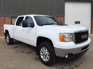 2011 GMC SIERRA 2500 HD CREW CAB DURAMAX SLT LEATHER 4X4