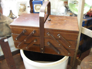 Antique Sewing Caddy/Storage Box