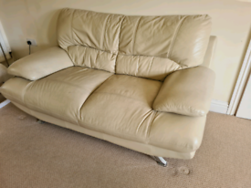 2 x leather sofas (3 seater and 2 seater) free