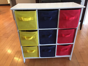 Storage shelving for kids toys