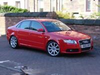 FINANCE AVAILABLE!!! RED 2006 AUDI A4 2.0 TDI S LINE 4dr, 6 SPEED, FSH,